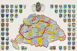 Poster Map of Hungary