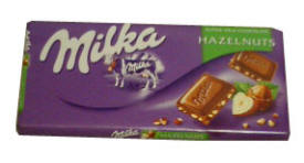 Milk Chocolate with Hazelnuts (milka)  100g
