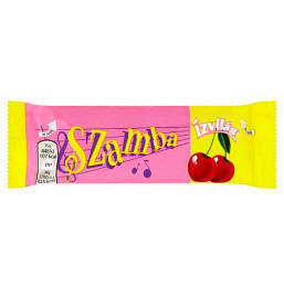 Ízvilág Szamba Dark Chocolate Covered Bar with Rum and Sour Cherry-Marzipan  Filling 25 g - Tesco Groceries